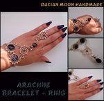Arachne (bracelet + ring) by ~NessaSilverwolf on deviantART