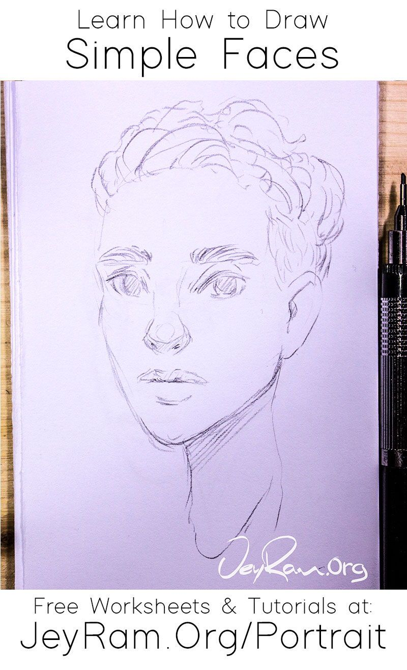 How To Draw Simple Faces In 2020 Drawings Drawing Tutorial Drawing Skills