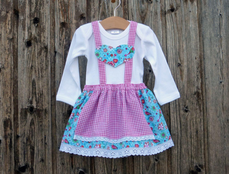 Baby\'s first dirndl, baby dirndl, pink christening robe, christening ...