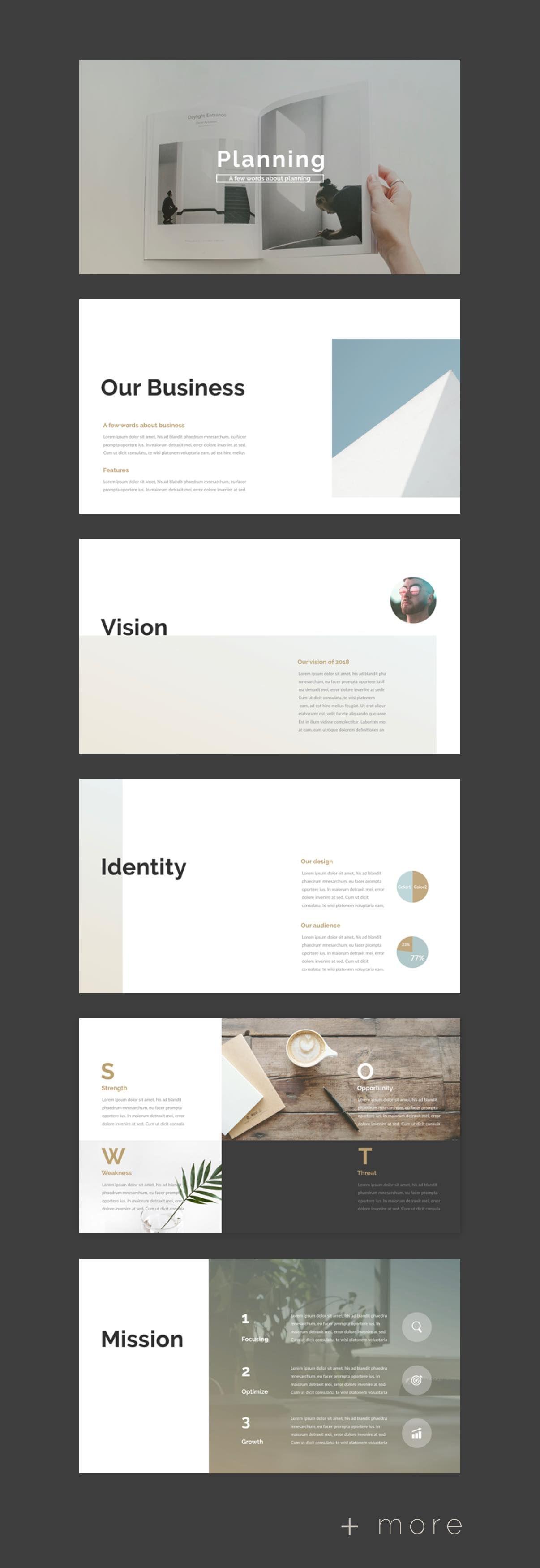 Simple Planner Presentation Template Presentation Business