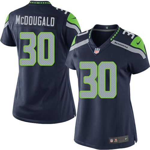 Women s Nike Seattle Seahawks  30 Bradley McDougald Limited Steel Blue Team  Color NFL Jersey c51846a21
