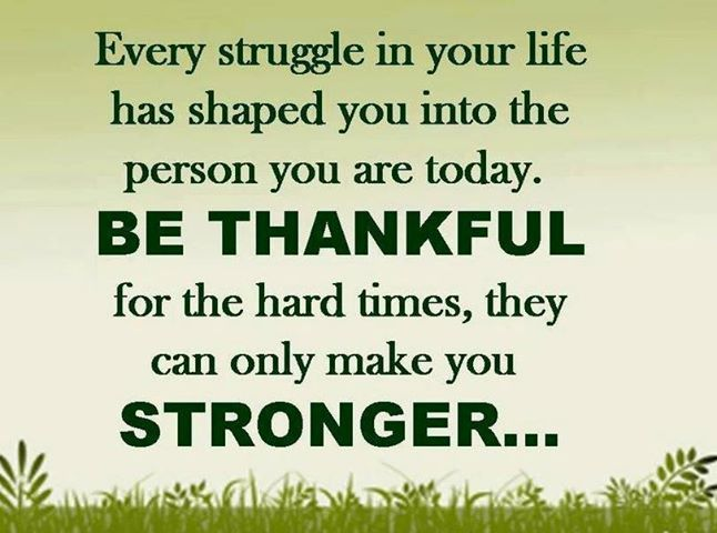 EVERY STRUGGLE IN YOUR LIFE HAS SHAPED YOU INTO THE PERSON YOU ARE TODAY...