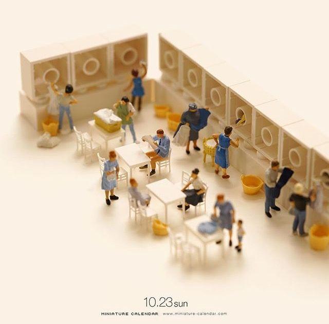 Laundromat By Tatsuya Tanaka Miniature Calendar Miniature