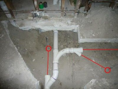 How To Move Plumbing Under A Concrete Slab Concrete Slab Small Bathroom Diy