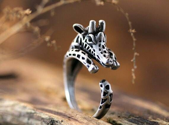 Giraffe ring Gift for animal ring by LolasBargainBoutique on Etsy