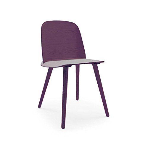 Purple Dining Chairs Wood Side Chair, Scandinavian Furniture Mn