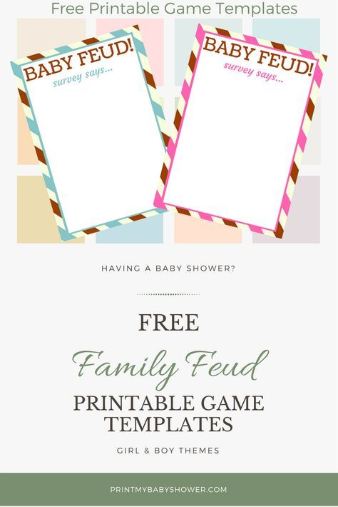 fun baby shower family feud game questions and templates | family, Powerpoint templates