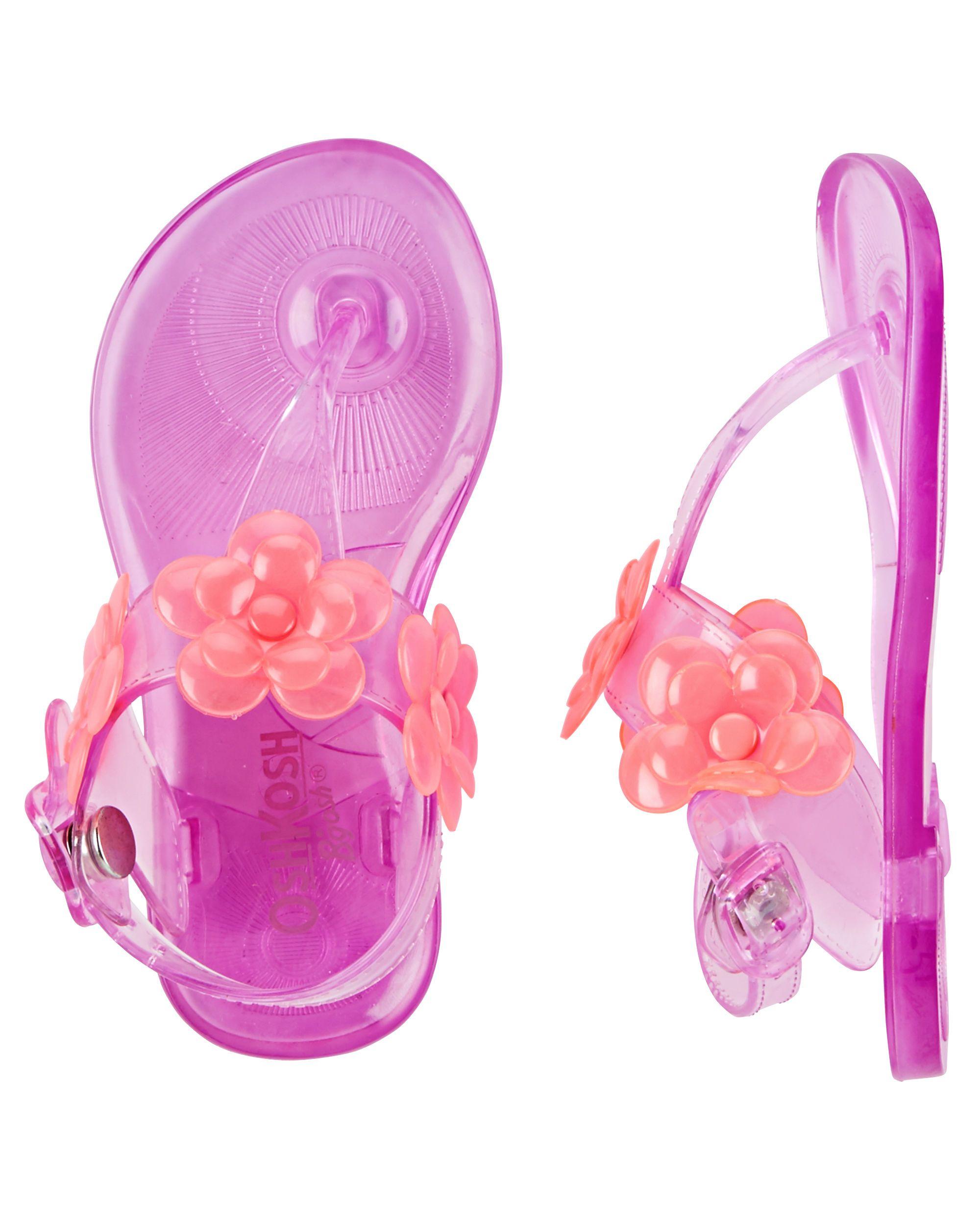 OshKosh Embellished Jelly Sandals