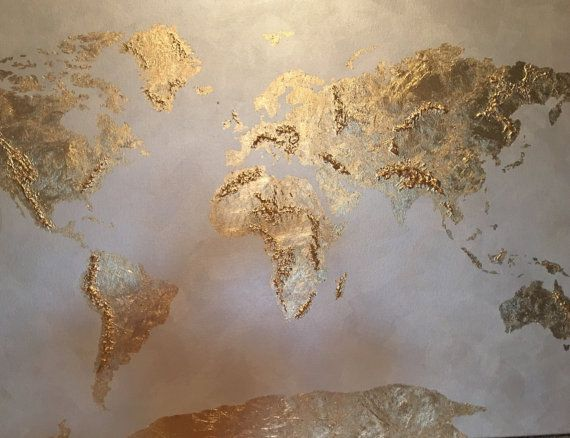 Original gold leaf map original gold leaf map of the world gold leaf original gold leaf map original gold leaf map of the world gold leaf globe on canvas wanderlust map of the world gumiabroncs