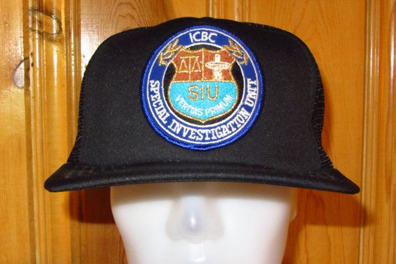 Icbc Special Investigations Unit Siu Police Vintage By Hats