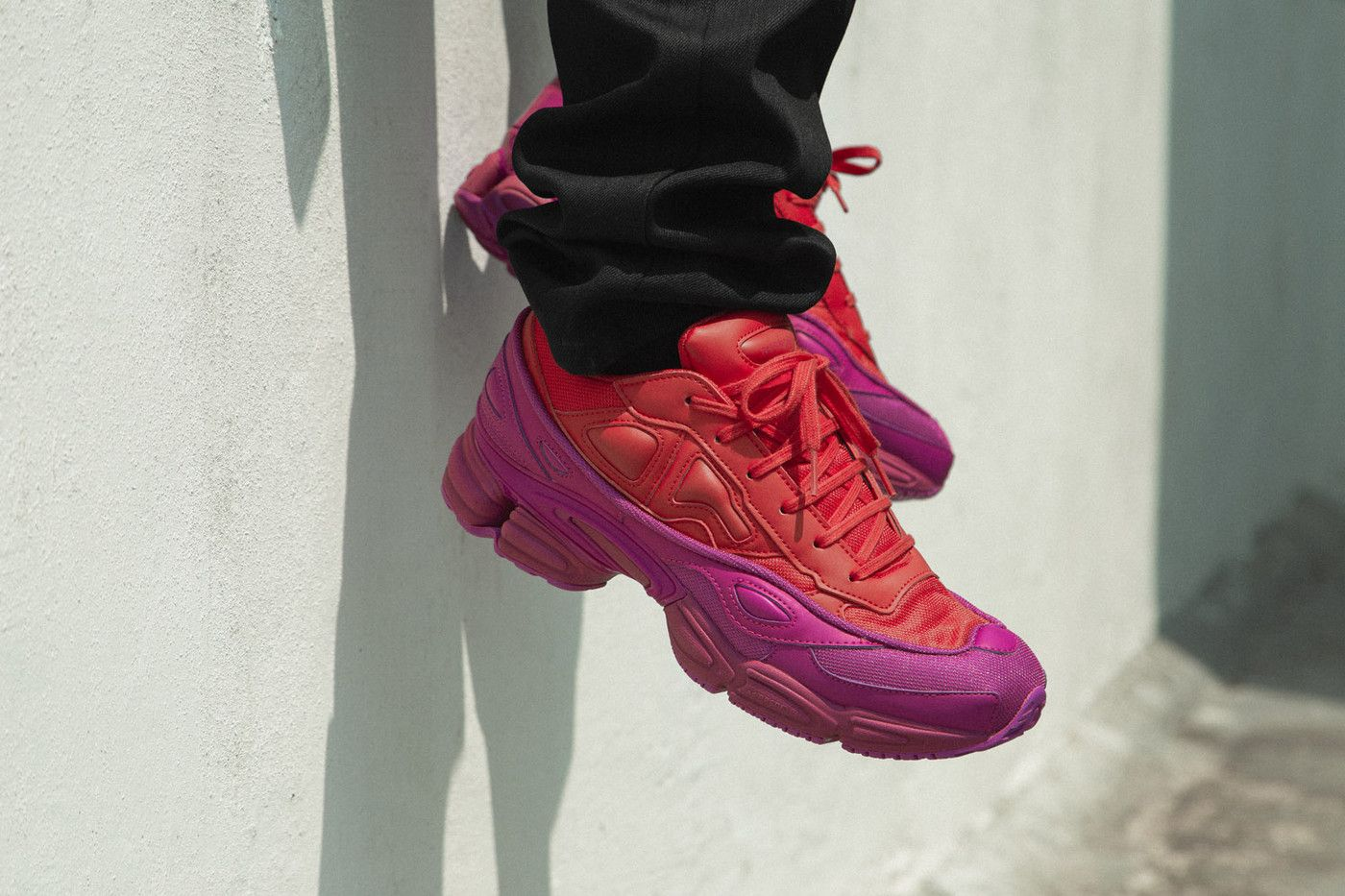 8a56755d993fd adidas by raf simons ozweego on foot look hbx pink purple