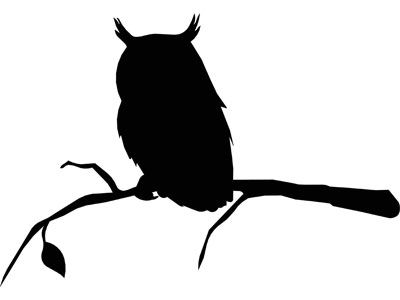 Pin by Lisa Aveyard on Silhouettes | Owl silhouette, Owl ...