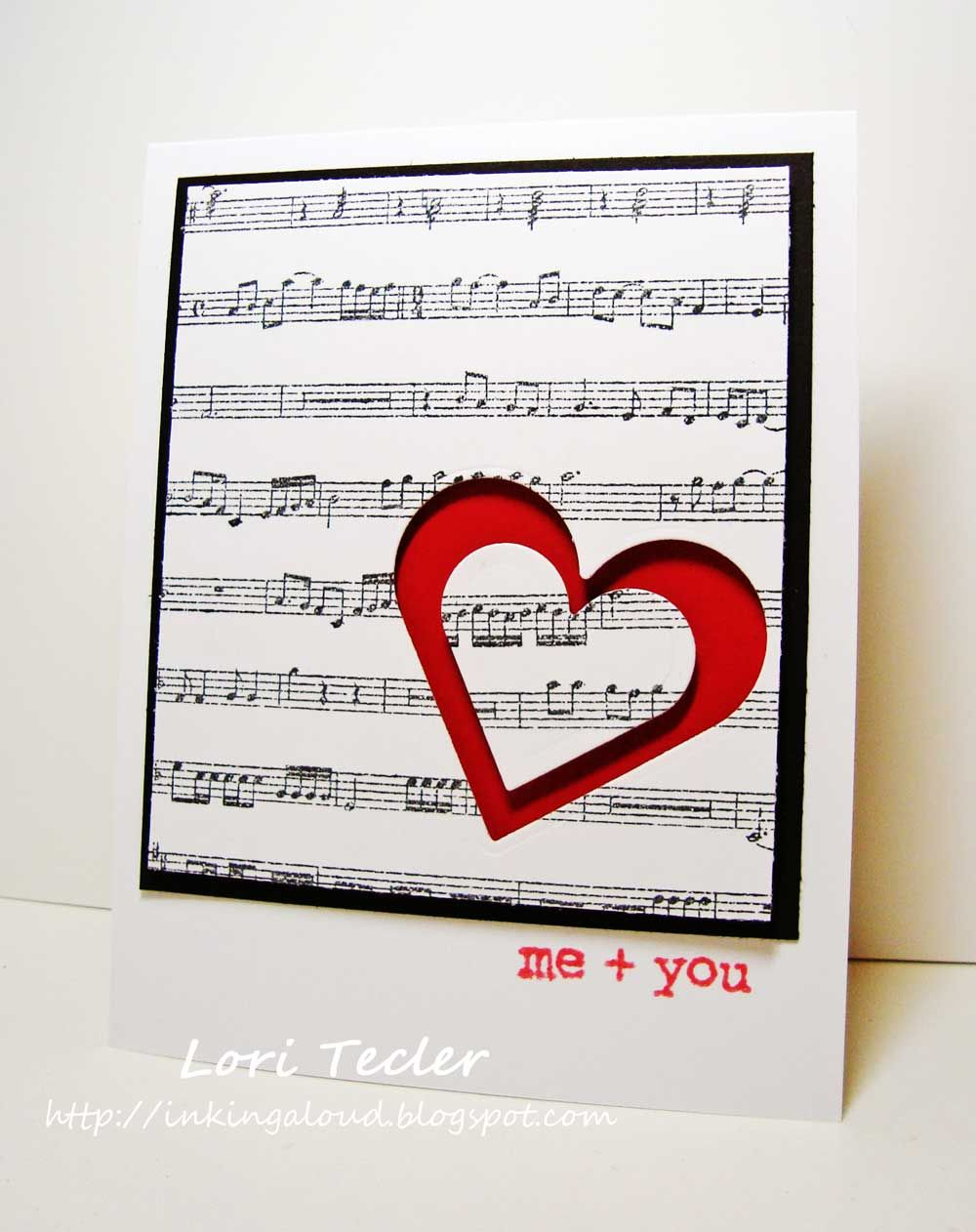 Love is a sweet song with this handmade Valentine\'s card featuring ...