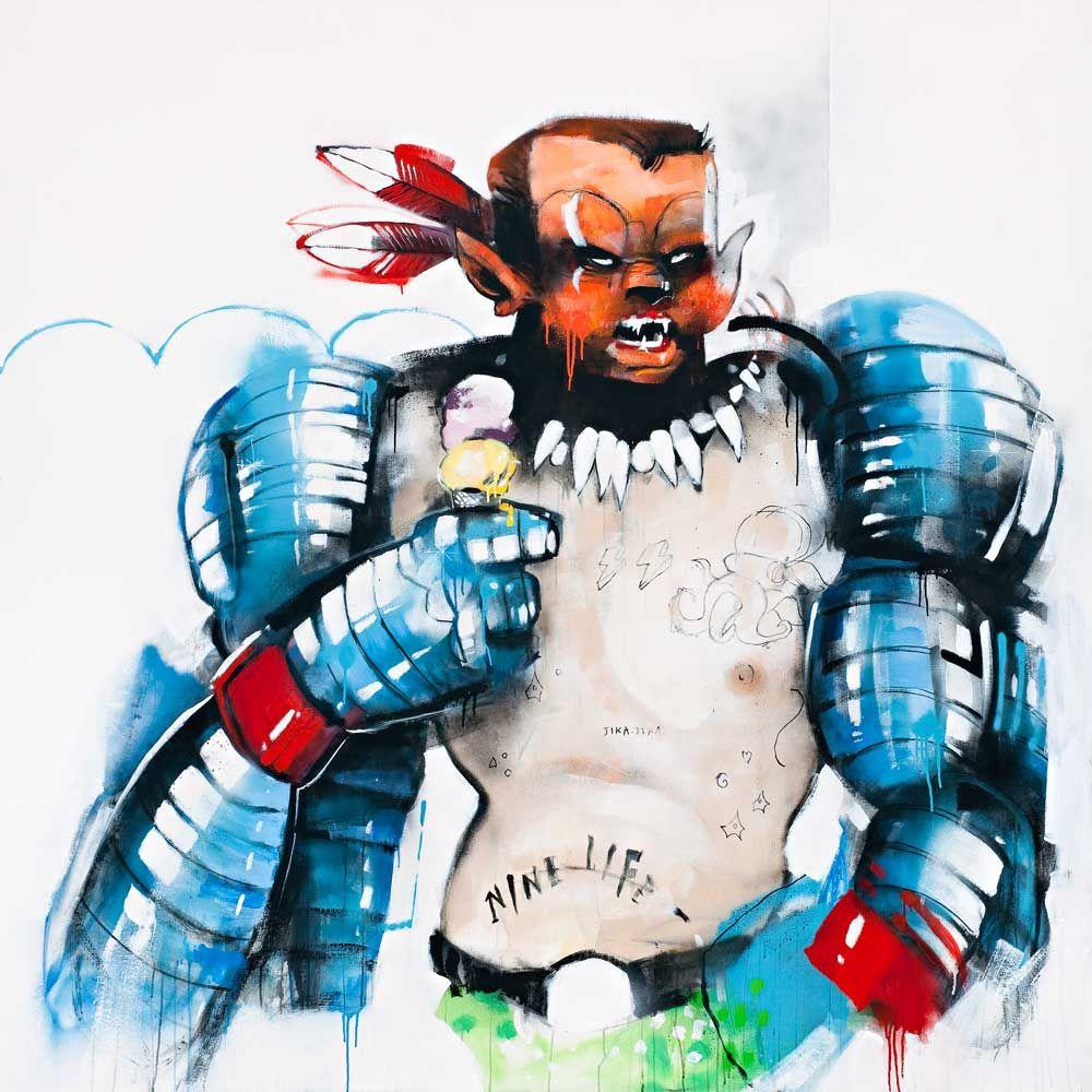 Anthony Lister Art Superhero Art Artwork