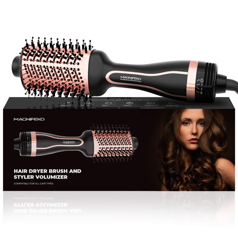 Magnifeko Hair Dryer Brush And Styler Volumizer Hot Air Hairdryer Brush In One Round Blow Dry Brus In 2021 Hair Dryer Blow Dry Brush Hair Dryer Brush