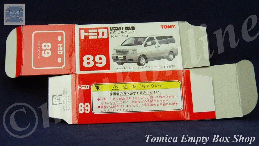 TOMICA 089C NISSAN ELGRAND MK-1 | 1/64 | ORIGINAL BOX ONLY | ST9 1999 CHINA