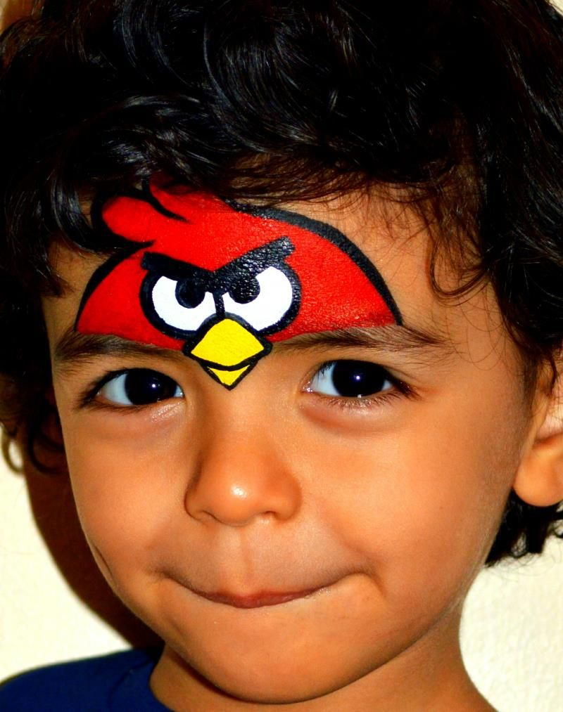 Angry Birds Face Painting - Google Art Christmas Mermaid