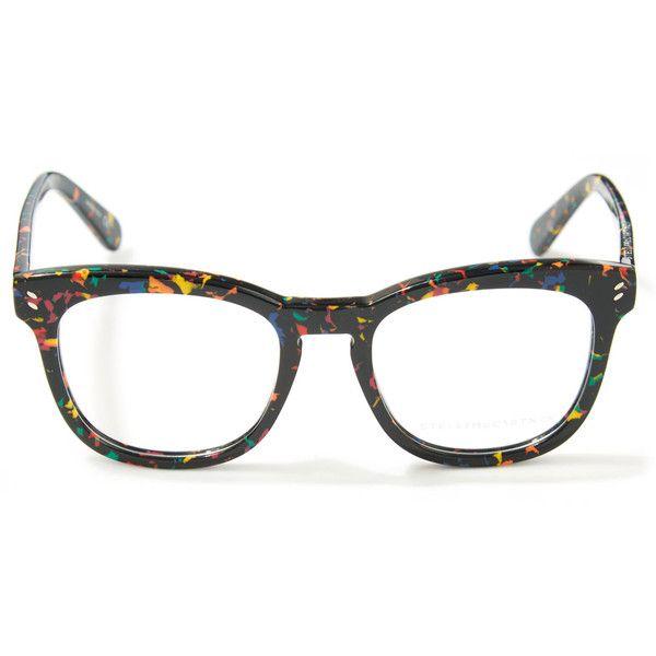 3b23104b7e Stella McCartney Black Confetti Glasses ( 220) ❤ liked on Polyvore  featuring accessories