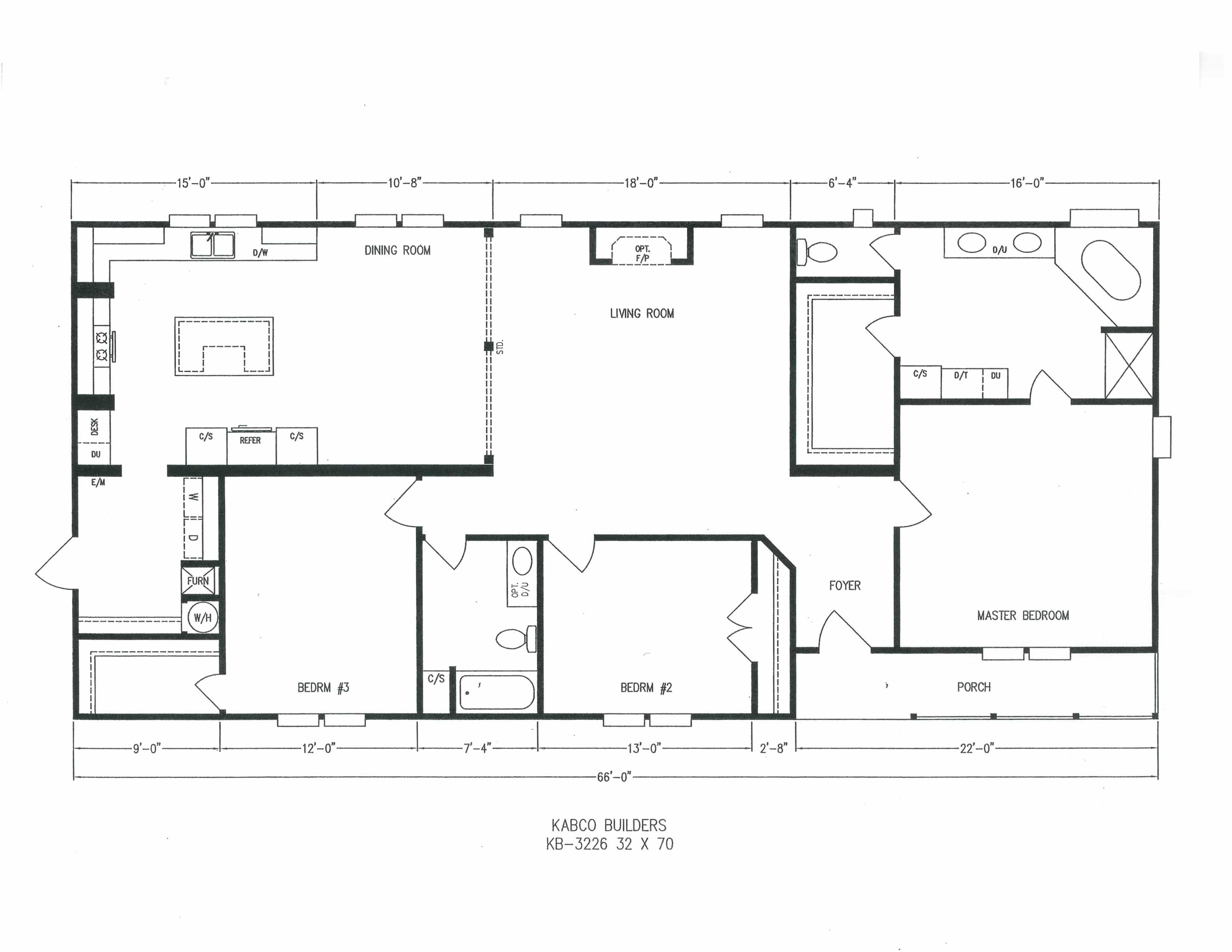 3 Bedroom Floor Plan K3226 Floor plans, Bedroom floor