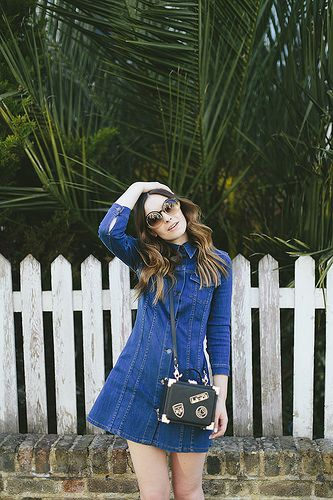 What Olivia Did Denim Button Up Dress | Flickr - Photo Sharing!