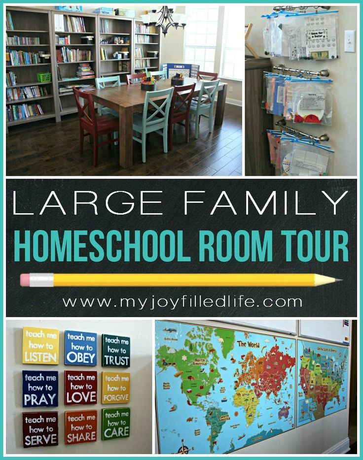 Large Family Homeschool Room Tour