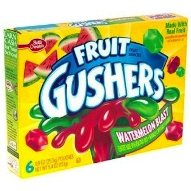 Gushers 90s Food Snacks Fruit Gushers