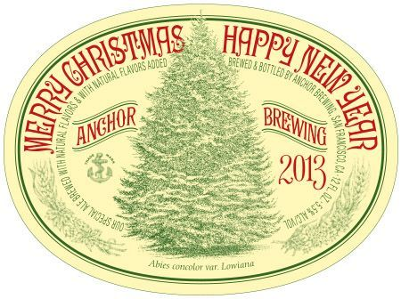 Anchor Brewing Ca Merry Christmas Happy New Year 12oz 5  03 13