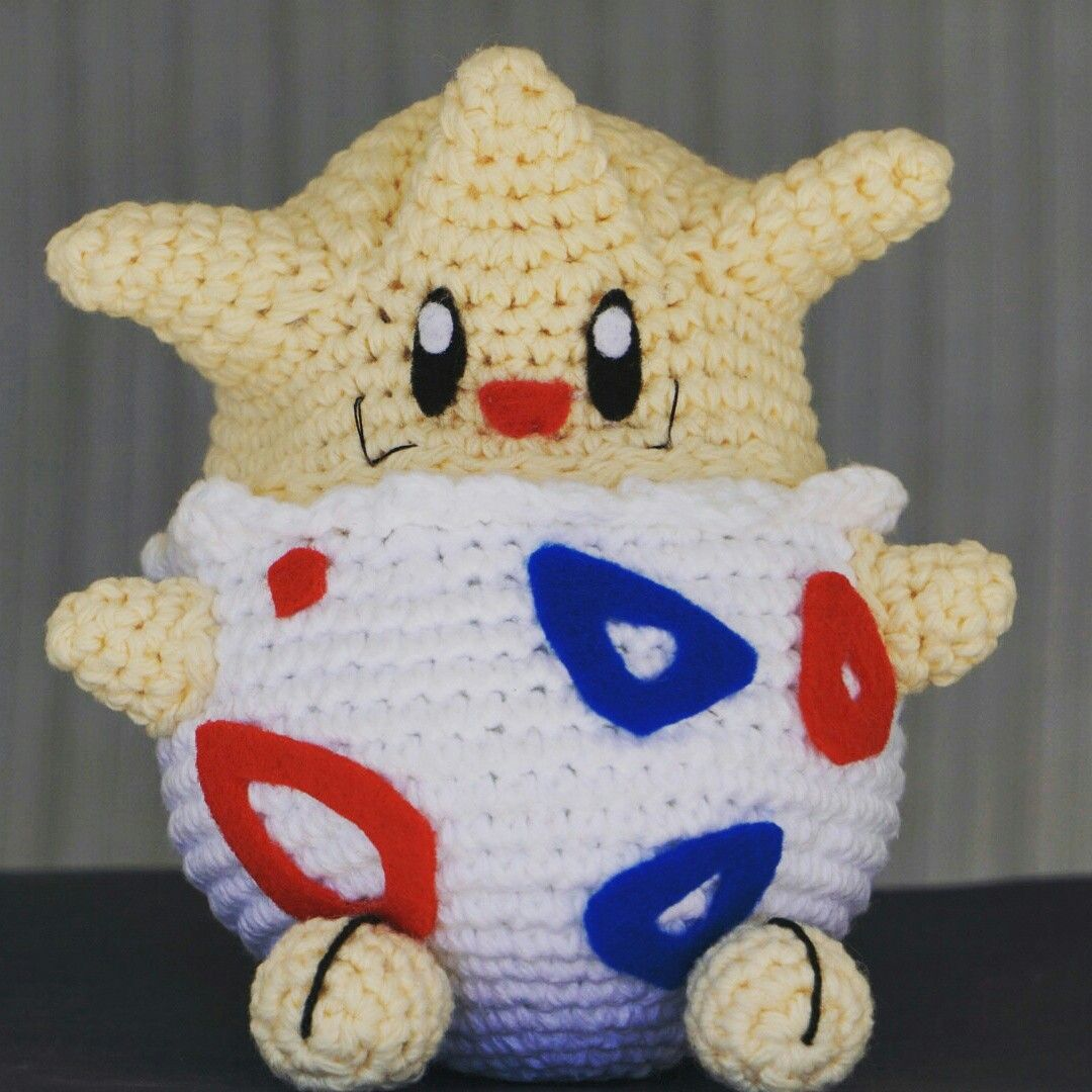 Togepi, the egg pokemon 😍   crochet amigurumi   Pinterest   Cosas