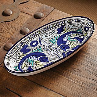 Tunisian Fish Platter At A Small Ceramic Studio In Nabeul Tunisia On The Mediterranean Coast A Small Studio Of Potters And Painters Crafts This Traditi Barra