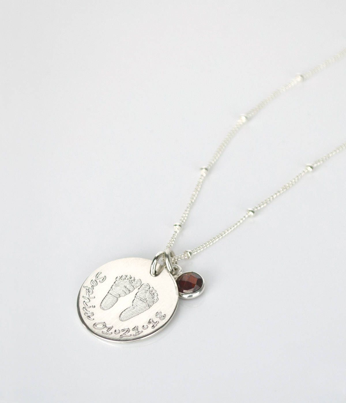 silver jewelry hammered accents circle mothers with mother child and necklace jewellery birthstone