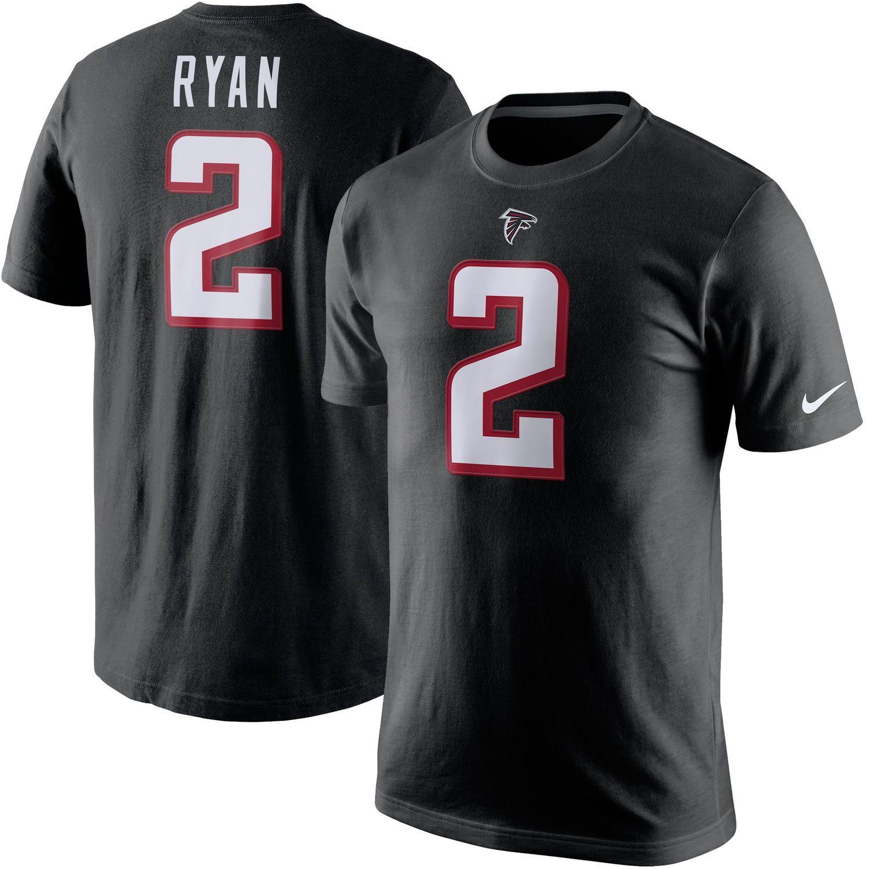 Nike Matt Ryan Atlanta Falcons Black Player Name & Number T Shirt