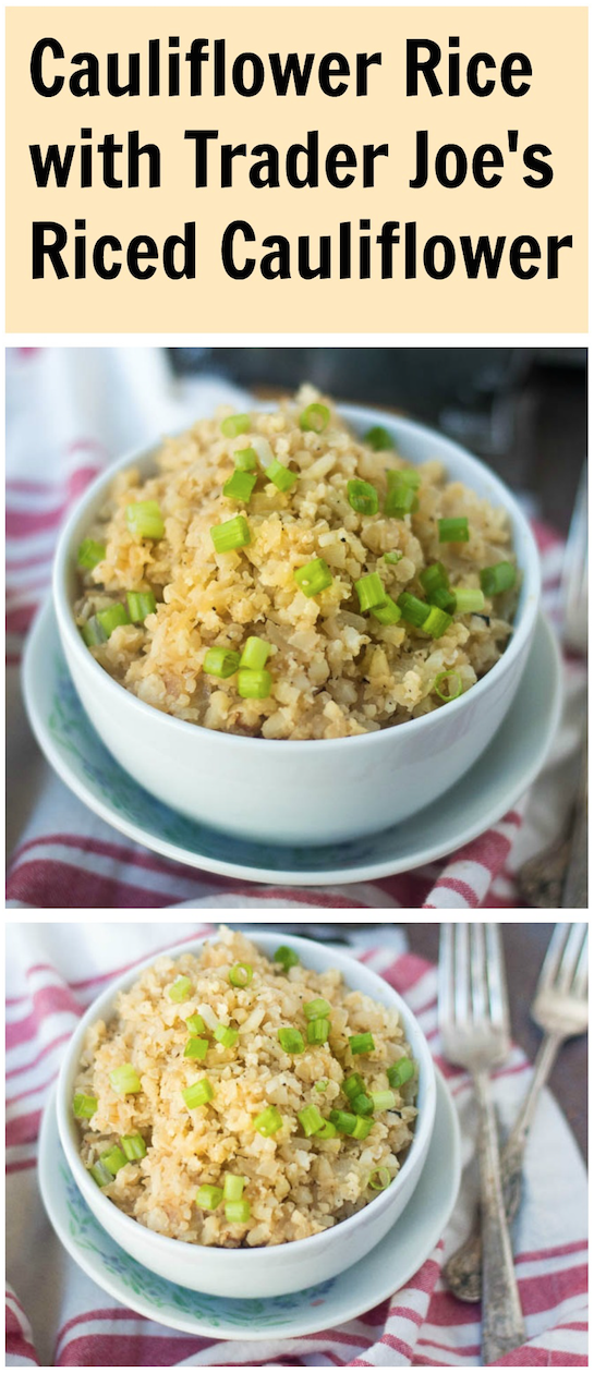 Fried cauliflower rice with trader joes recipe riced fried cauliflower rice with trader joes recipe riced cauliflower cauliflower and cauliflower fried rice ccuart Image collections