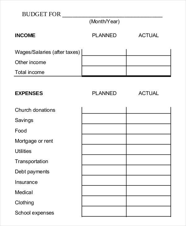 Simple Monthly Budget Template  Simple Monthly Budget Template