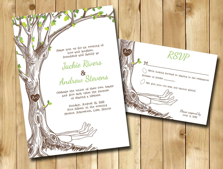 the giving tree wedding invitations customized how you want - Tree Wedding Invitations