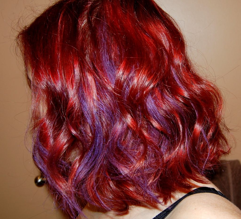garnier color stylers review purple streaks auburn hair