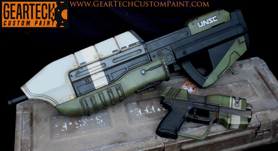 Custom painted airsoft gun  Airsoft HALO AEG and modified Mk23