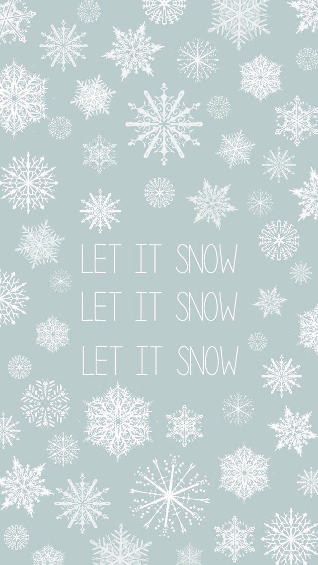 Let It Snow Xmas Wallpaper Iphone Wallpaper Winter Holiday Wallpaper