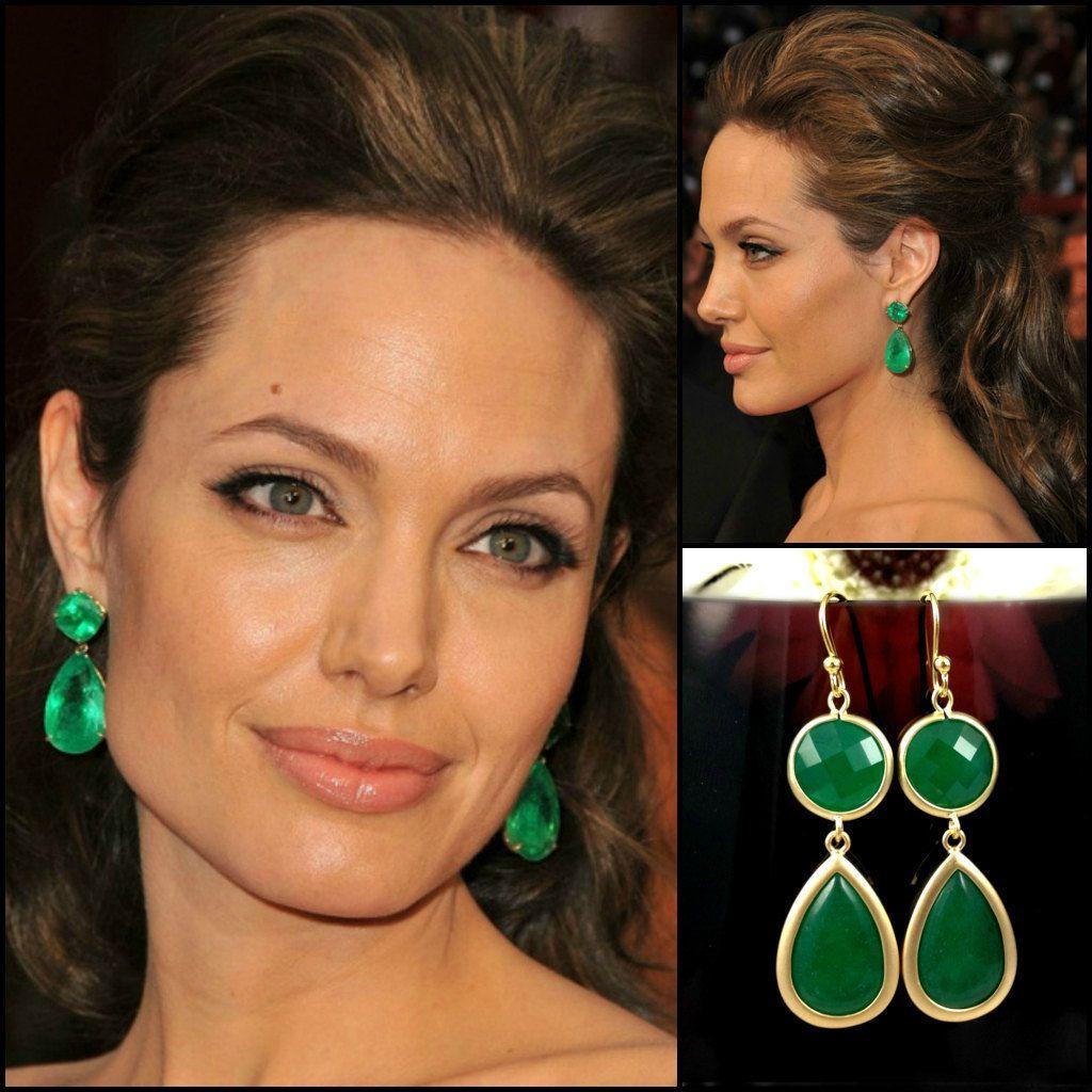 Angelina Jolie Inspired Emerald Earrings Click Here Merryrichardsjewelers Celebrities Design Jewel Inspire