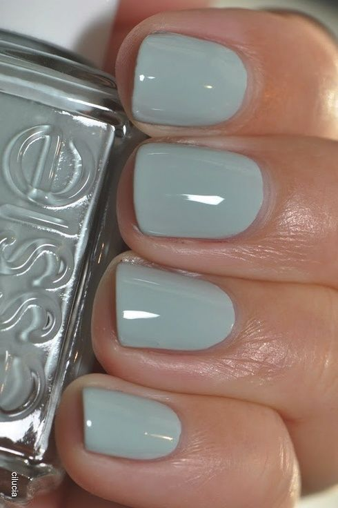 Essie Who Is the Boss - pale sage green polish | Nails | Pinterest ...