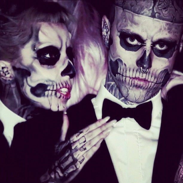Maquillage Halloween Montreal.Zombie Boy Montreal Squeegee Turned Fashion Muse Rick Genest Skull Face Makeup Born This Way Makeup
