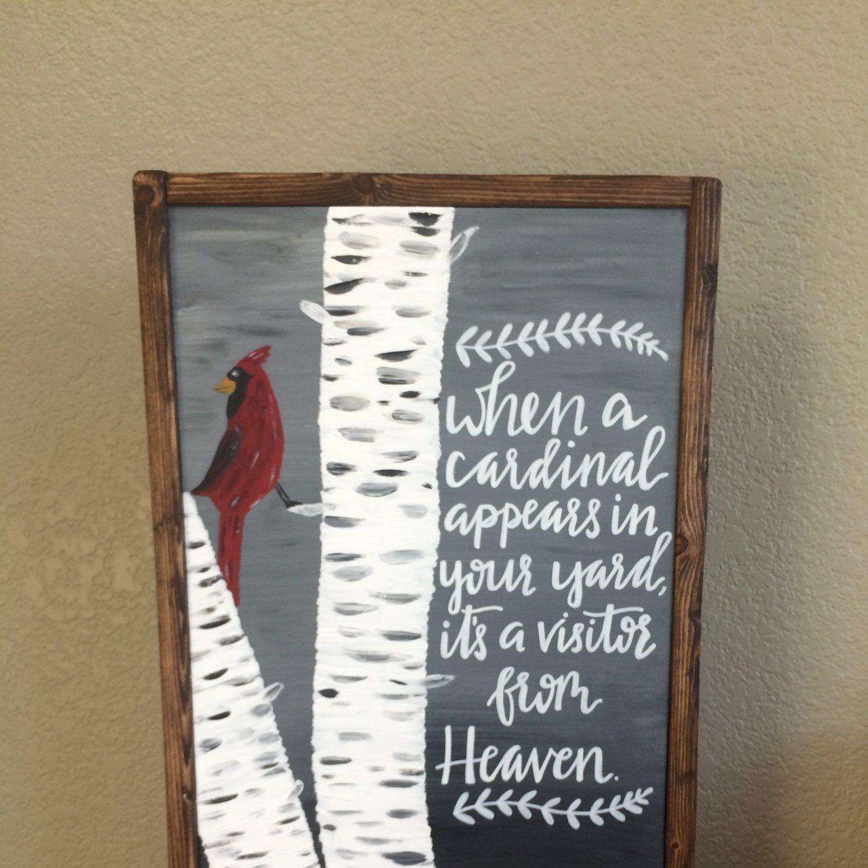 Cardinal sign, Bird painting, saying about birds, Cardinal ...