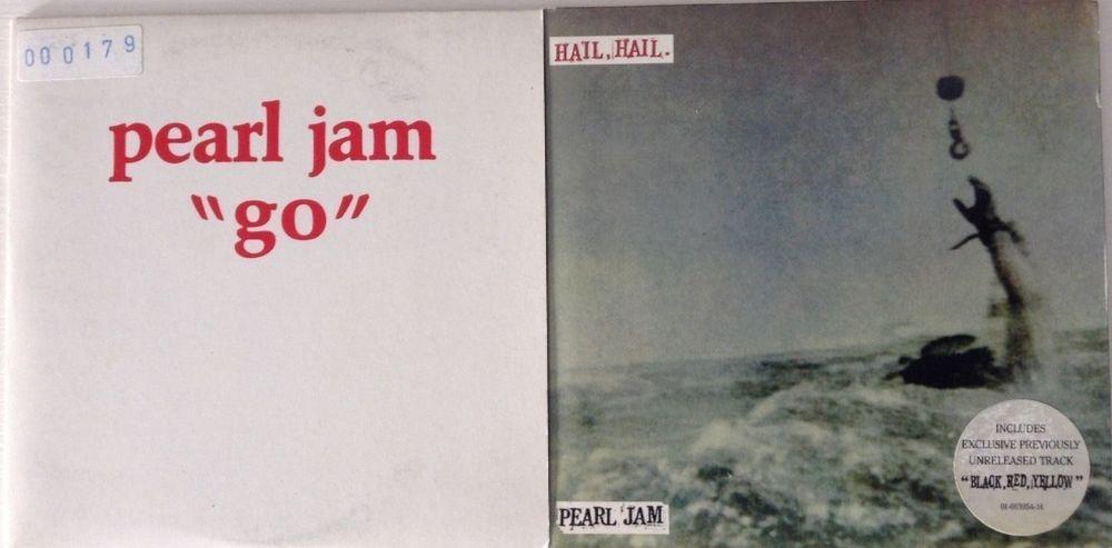 Pearl Jam 2 cds promo Go + Hail, Hail