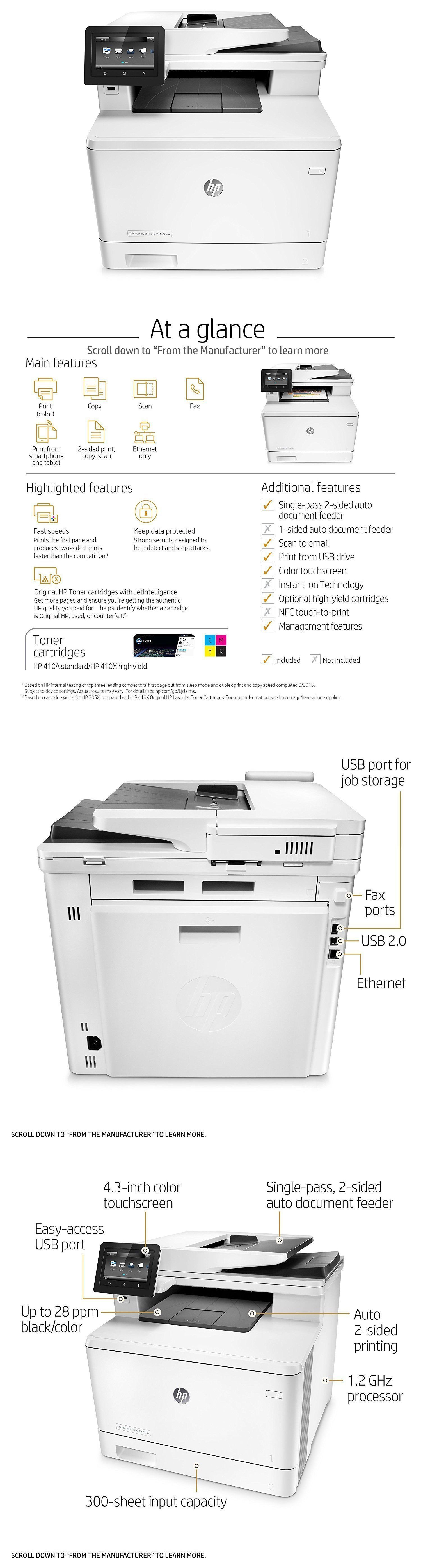 New Hp Laserjet Pro M477fdn All In One Color Printer Cf378a Free Shipping Color Printer Printer All In One
