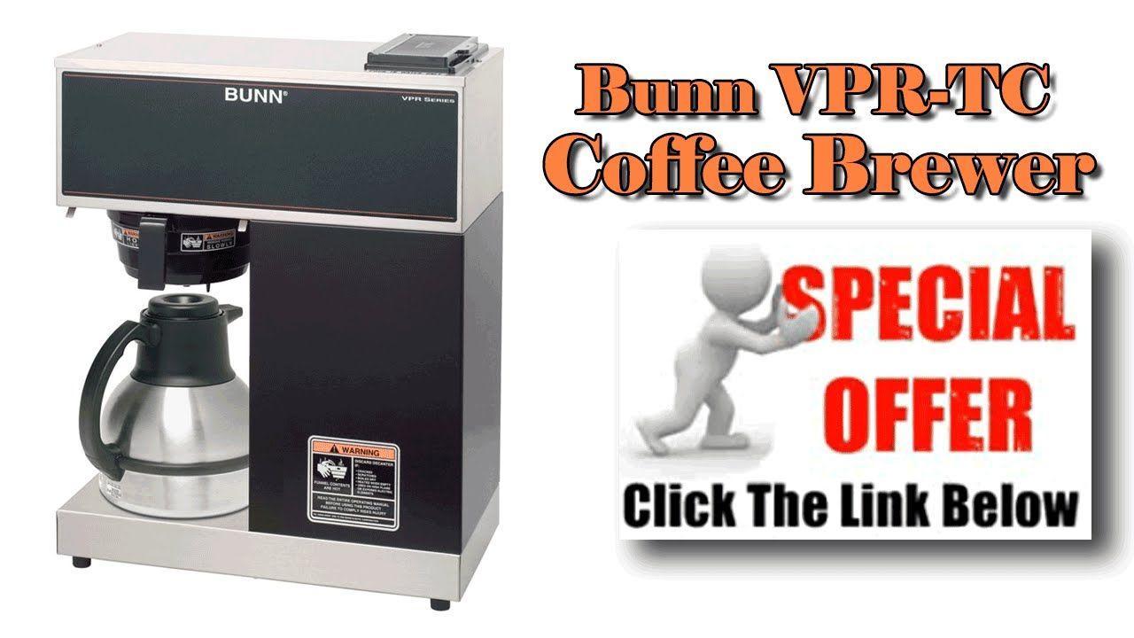 Bunn commercial coffee maker bunn vpr tc coffee brewer