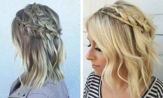 28 Trendy Wedding Hairstyles For Chic Brides Stayglam Braids For Medium Length Hair Medium Length Hair Styles Hair Lengths