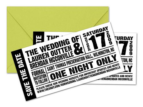 Concert Ticket Save The Dates Concert Tickets, Wedding And Weddings   How  To Make A  Make Concert Tickets