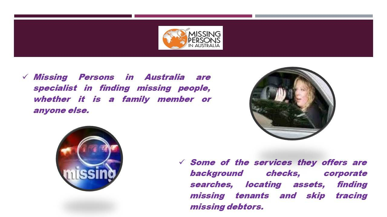 """If you are missing a family member in Australia, understand that only one agency called """"MISSING PERSONS IN AUSTRALIA"""" can help you."""