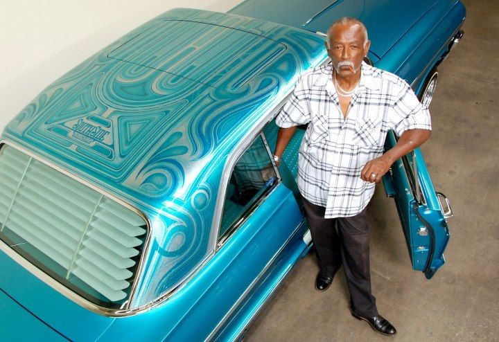 Lowrider Roof Patterns Amp Curlys Pinstriping Blue Big Body