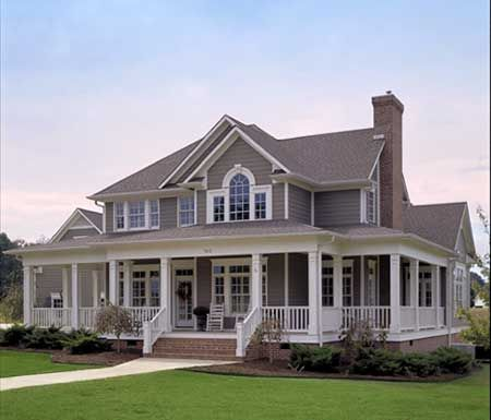 Plan 16804WG: Country Farmhouse with Wrap-around Porch in 2018 | New on country home design plans, country home floor plans, modern farm house plans, country garage design plans, country cottage design plans, old country farm home plans,
