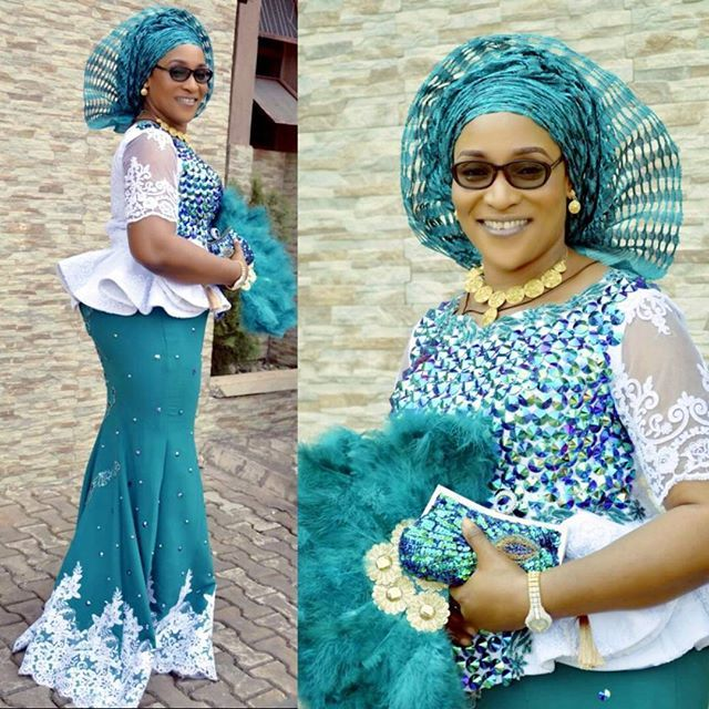 5fc9e708e6e29d Lovely Latest Aso Ebi Skirt and Blouse Designs for Owambe Guests - DeZango  Fashion Zone